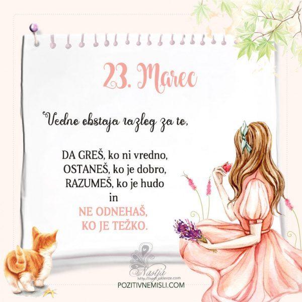 23. Marec  ~ Pozitivčica za današnji dan ~ Nastja Klevže