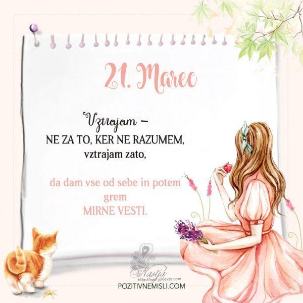 21. Marec  ~ Pozitivčica za današnji dan