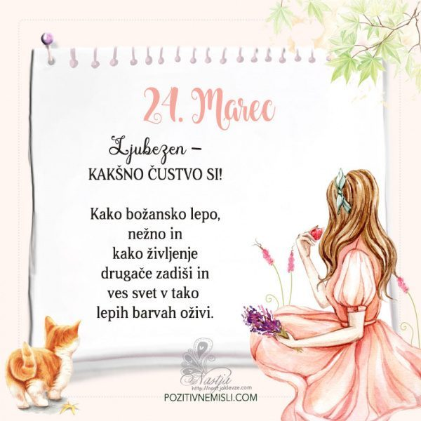 24. Marec  ~ Pozitivčica za današnji dan ~ Nastja Klevže