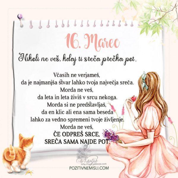 16. Marec  ~ Pozitivčica za današnji dan ~ Nastja Klevže