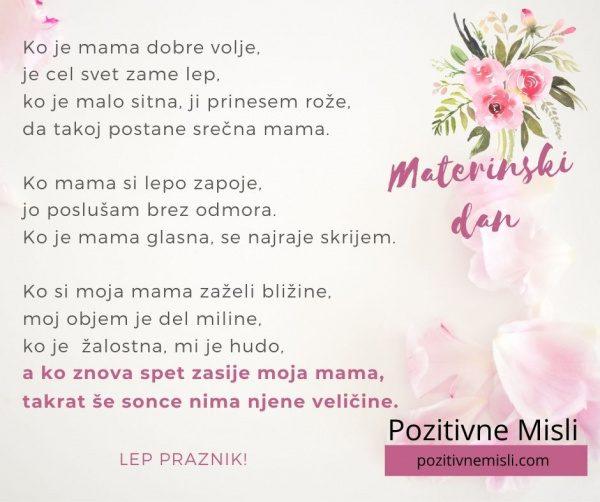 Ko zasije moja mama - misli o mami