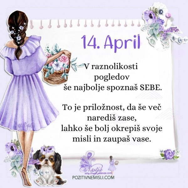 14. april - Pozitivčica za današnji dan - Nastja Klevže