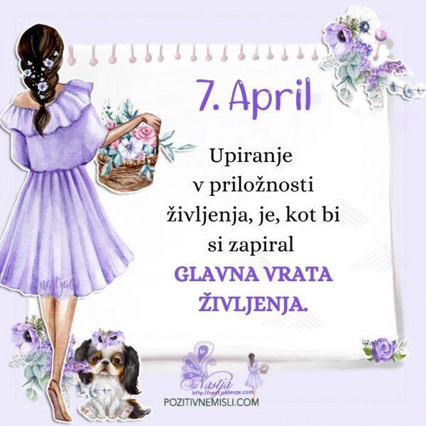 7. april - Pozitivčica za današnji dan - Nastja Klevže
