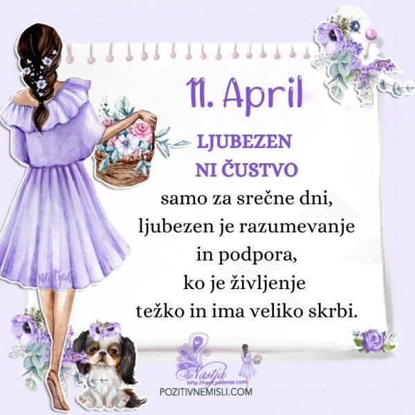 11. april - Pozitivčica za današnji dan - Nastja Klevže