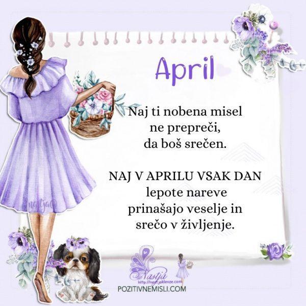 April pozdravljen - Pozitivčica za današnji dan