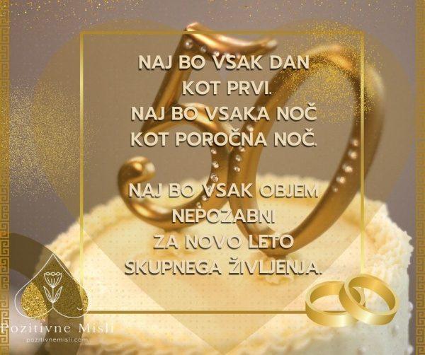 Verzi za zlato poroko - Naj bo vsak dan kot prvi