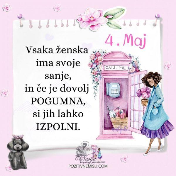 4. maj - Pozitivčica za današnji dan - Nastja Klevže