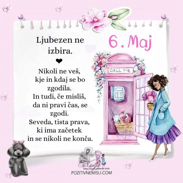 6. maj - Pozitivčica za današnji dan