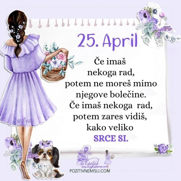 25. april - Pozitivčica za današnji dan