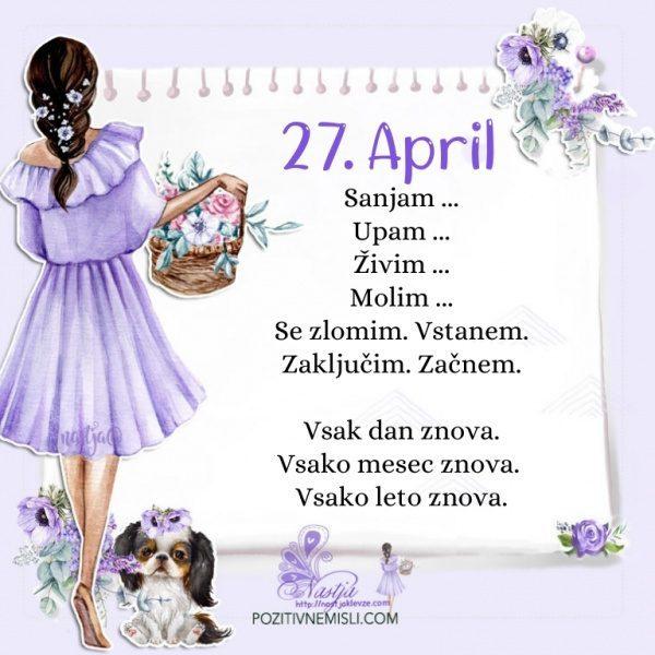 27. april - Pozitivčica za današnji dan - Nastja Klevže