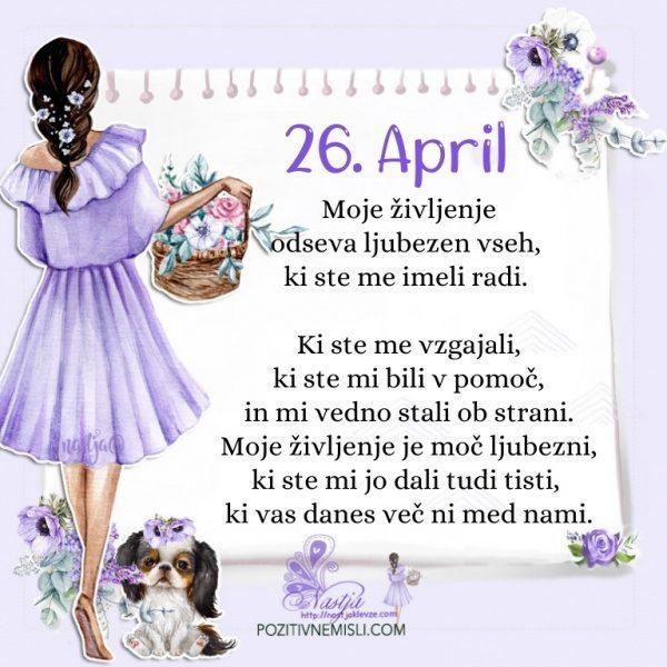 26. april - Pozitivčica za današnji dan