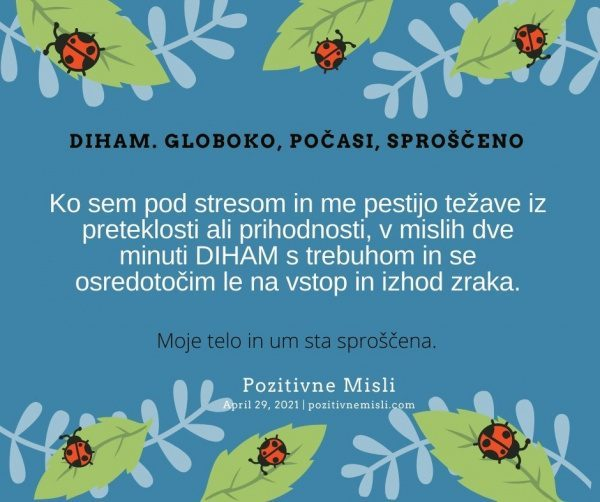 29. april Diham  - Pozitivne MISLI