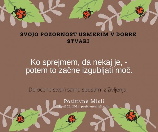 26. april Motivacija Pozitivne MISLI