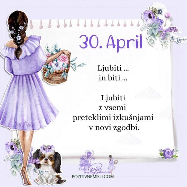 30. april - Pozitivčica za današnji dan