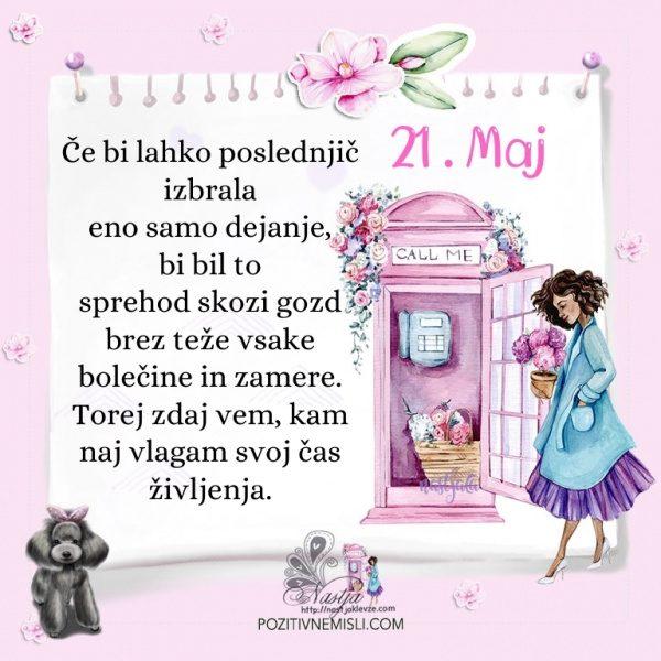 21. maj - Pozitivčica za današnji dan - Nastja Klevže