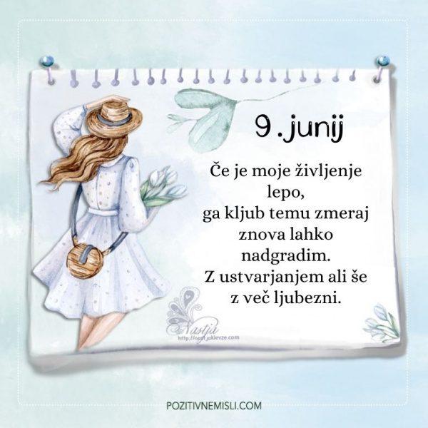 9. junij - Pozitivčica za današnji dan