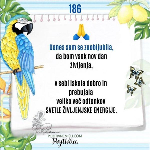 186 - Pozitivčica življenje in sreča - koledar misli 2021
