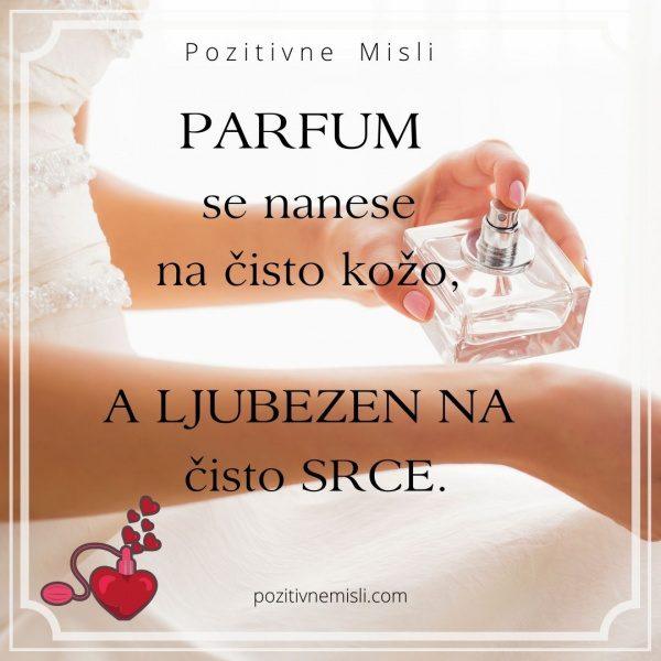 Misli o ljubezni - Parfum  se nanese na čisto kožo