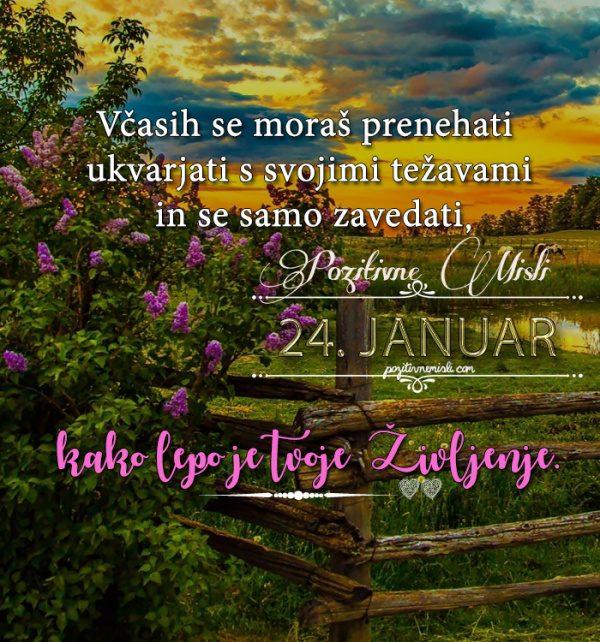 24. januar - 365 misli koledar lepih misli o življenju