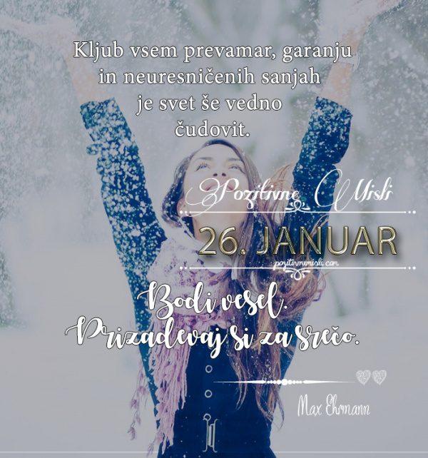 26. januar - 365 misli koledar lepih misli o življenju