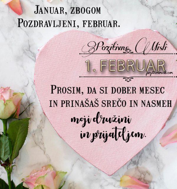 1. februar - 365 misli koledar lepih misli o življenju