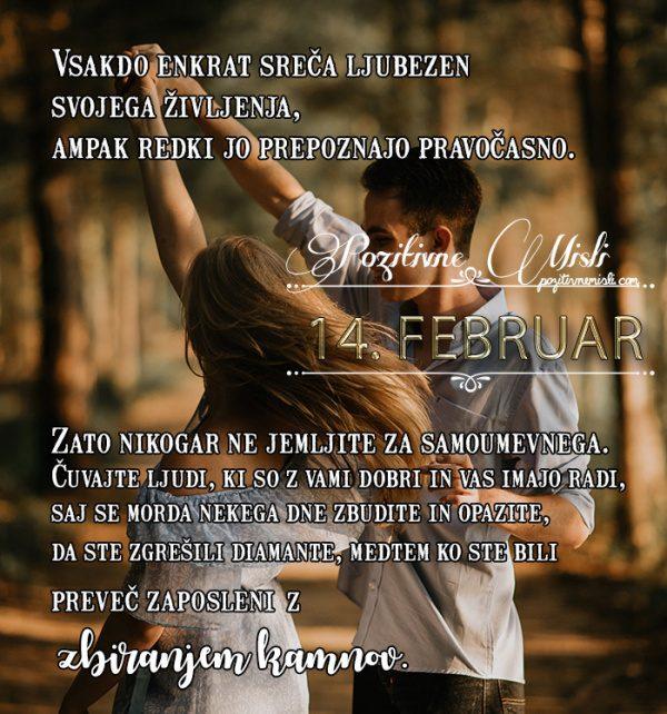 14. februar - 365 misli koledar lepih misli o življenju