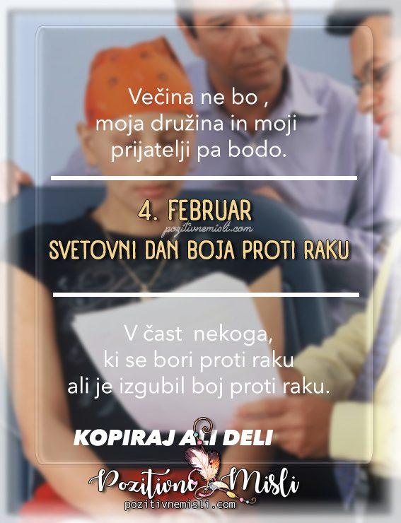 4. februar svetovni dan boja proti raku