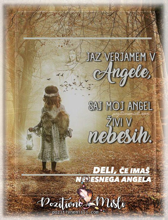 Verjamem v angele - Misli v slovo in v spomin