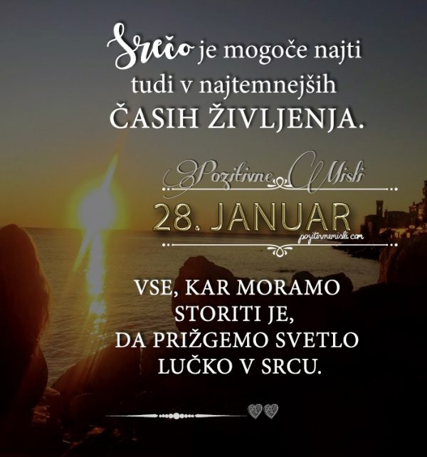 28. januar - 365 misli koledar lepih misli o življenju
