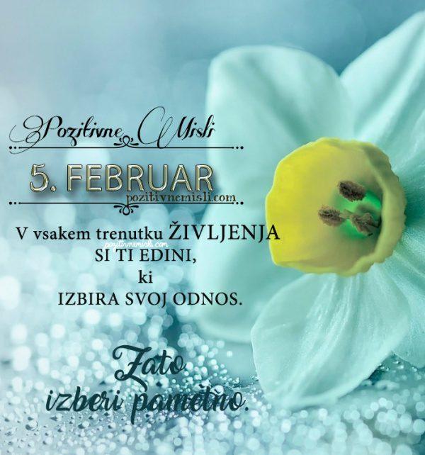 5. februar - 365 misli koledar lepih misli o življenju