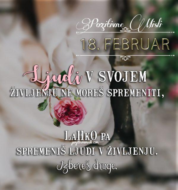 18. februar - 365 misli koledar lepih misli o življenju