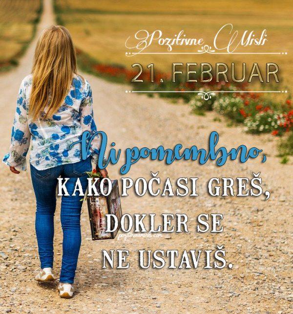 21. februar - 365 misli koledar lepih misli o življenju