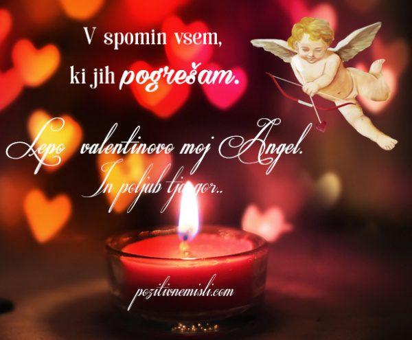 Lepo valentinovo moj angel in poljub tja gor