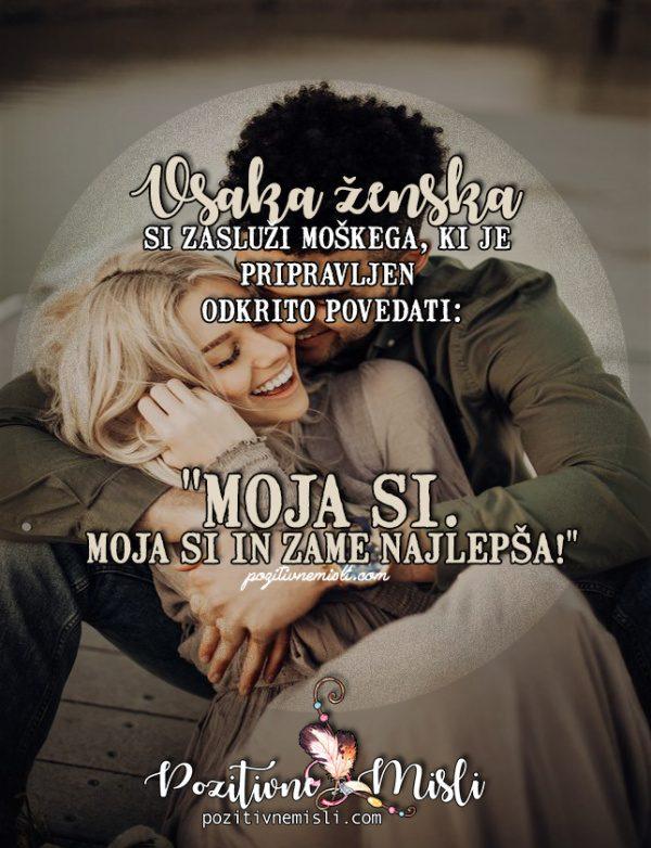 Najlepše msili o ljubezni - Vsaka ženska  si zasluži moškega