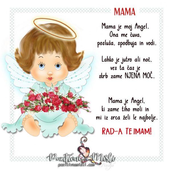 Mama je moj angel - lepe misli za mamo