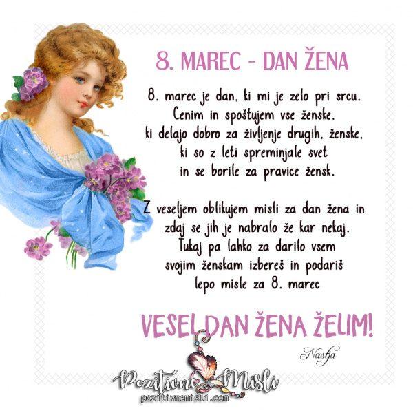 Sporočilo za dan žena - POZITIVNE MISLI - Nastja Klevže