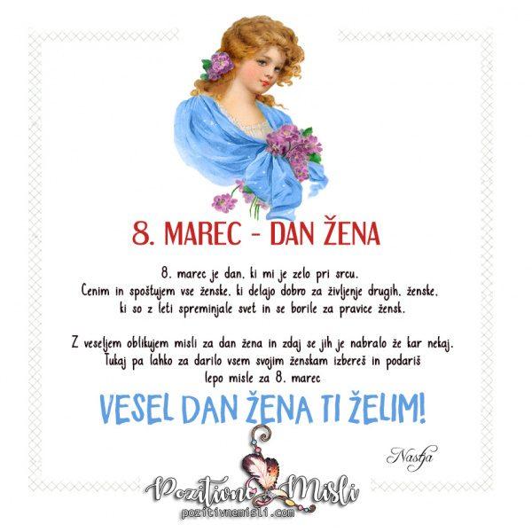 8. marec dan žena -  voščilo za dan žena