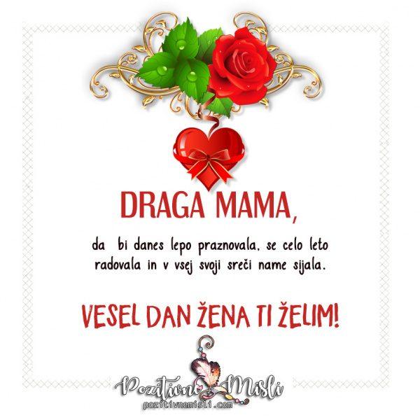 Moji mami za 8. marec Verzi, misli in voščila za dan žena