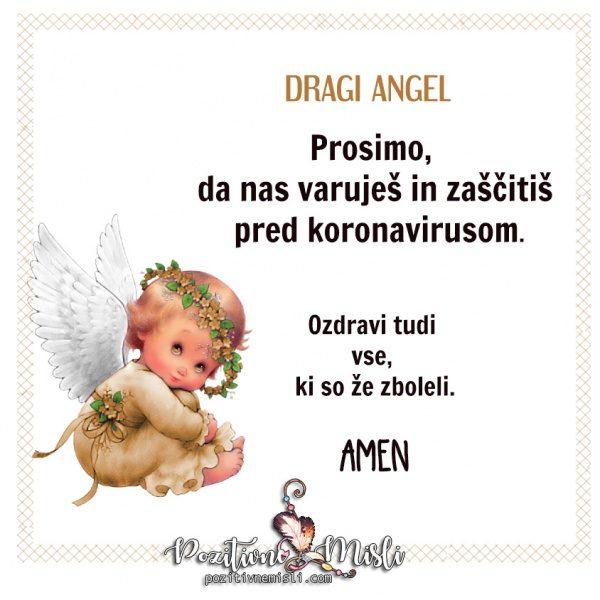 Angel - molitev  za zaščitiso  pred koronavirusom 🙏🕯👼🕯🙏