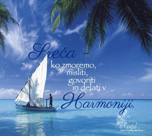 Harmonija- pozitivne misli