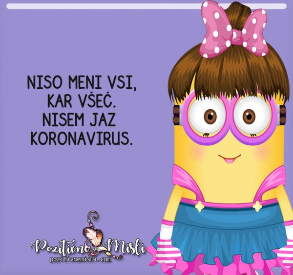Nisem jaz koronavirus