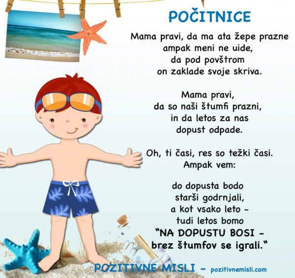 Počitnice - Mama pravi - Otroška pesem