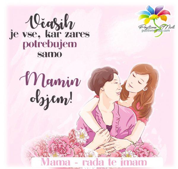 Mamin objem - misli za mamo