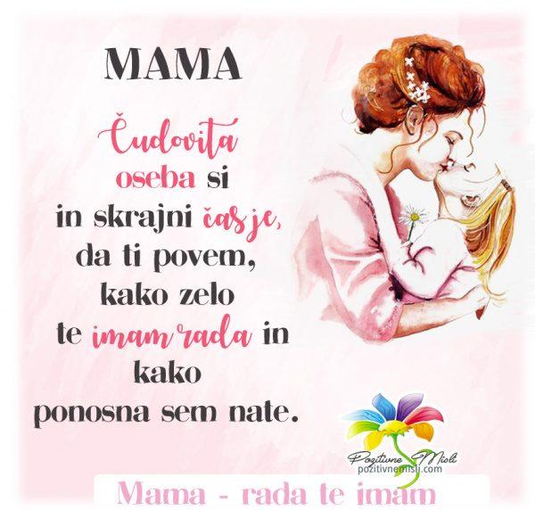 Mama - čudovita oseba si