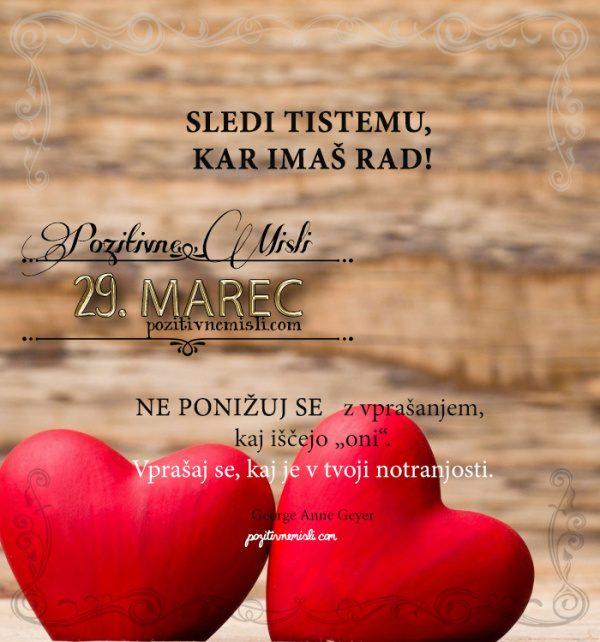 29. marec - 365 misli - koledar lepih misli o življenju