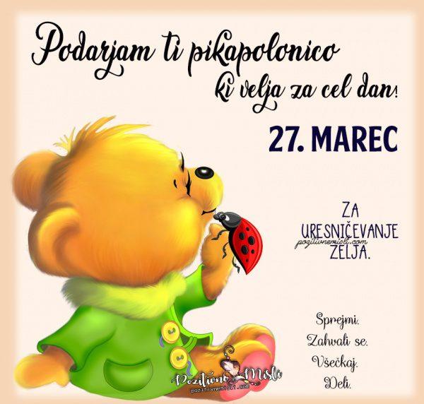 27. marec - pikapolonica za današnji dan
