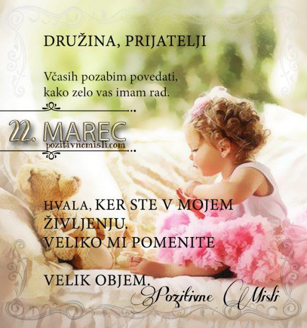 22. marec - 365 misli - koledar lepih misli o življenju