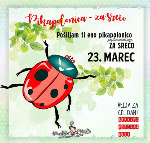 23. marec - 365 srečnih dni - Pikapolonica za srečo
