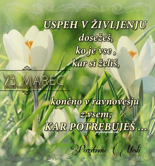23. marec - 365 misli - koledar lepih misli o življenju