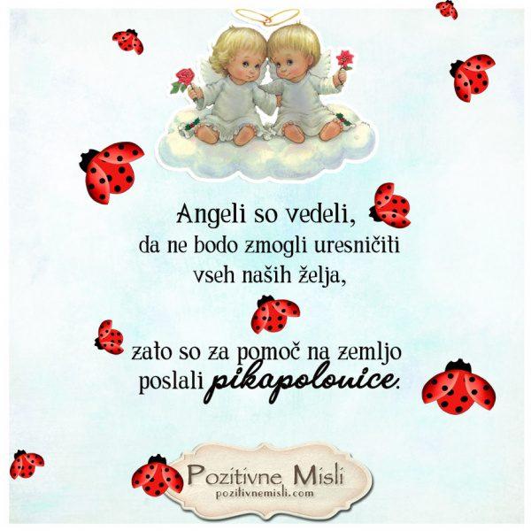 Angeli so vedeli - misli o Angelih